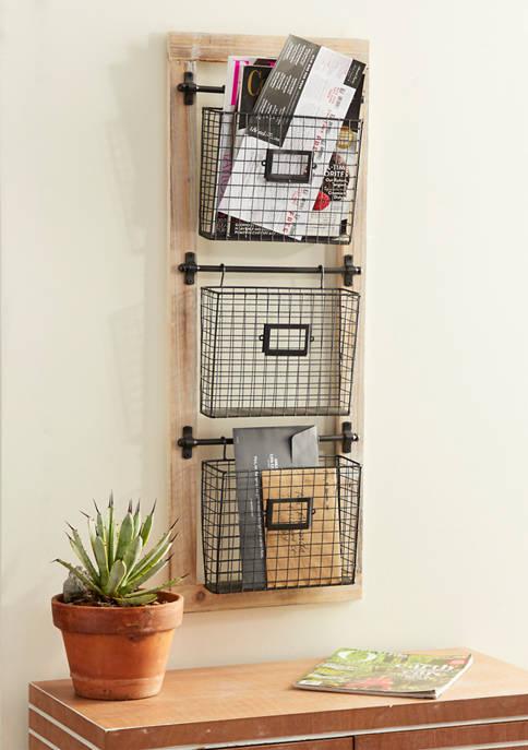 Monroe Lane 3-Tiered Basket Wall Rack