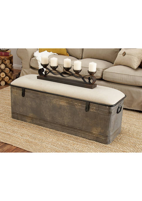 Horse Watering Trough-Inspired Storage Bench