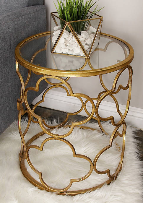 Monroe Lane Distressed Glass Accent Table