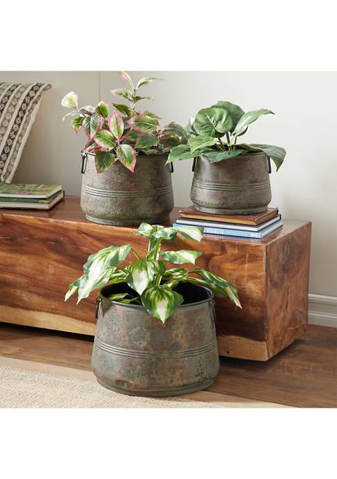 Metal Planter  - Set of 3