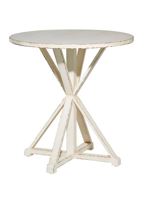 White Wood Farmhouse Accent Table