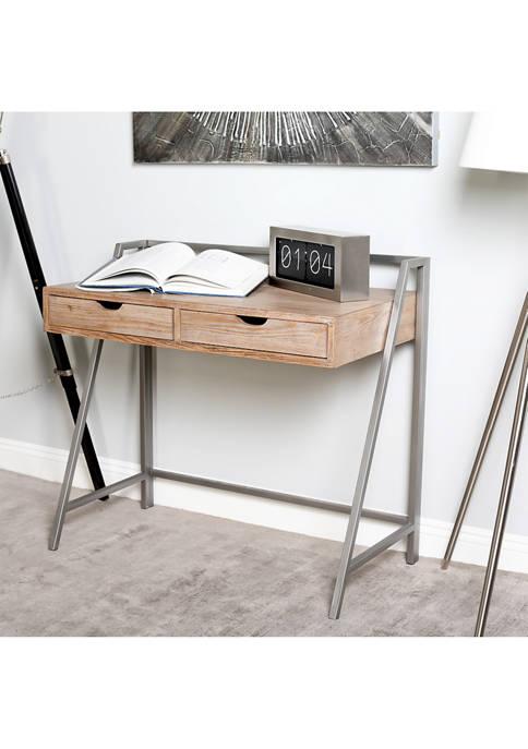 Monroe Lane Wood Metal Desk
