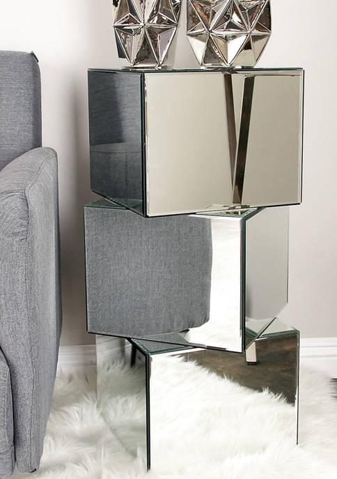 Wood Mirror Pedestal