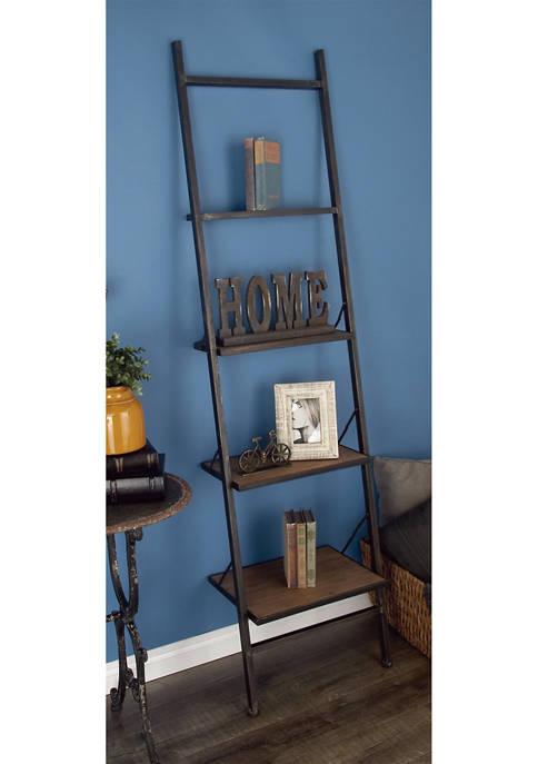 Industrial Leaning Ladder Shelf