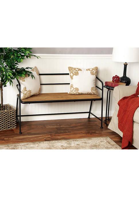 Metal Wood Bench