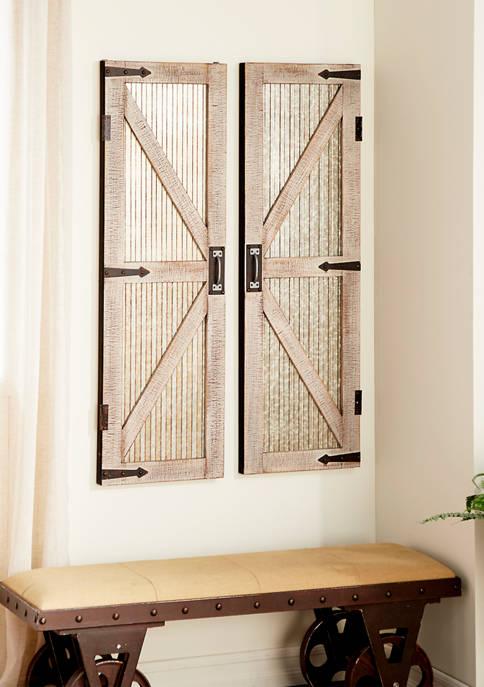 Monroe Lane: Wooden Barn Door – Set of 2! 8.00 (REG 0.00) + Free Shipping at Belk!