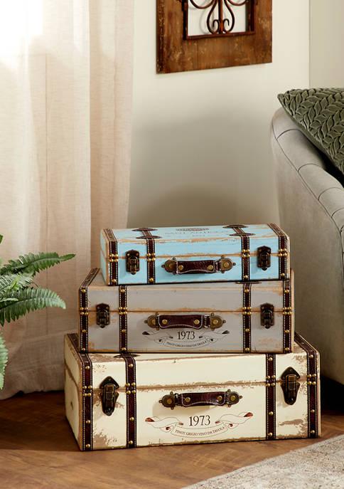 Set of 3 Wood Trunks