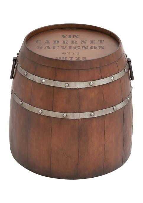 Monroe Lane Metal Barrel Accent Table