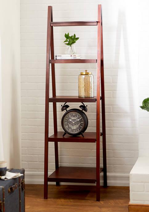 Wooden Ladder Bookcase