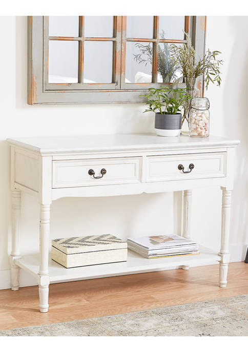 Monroe Lane Wooden Two Drawer Console