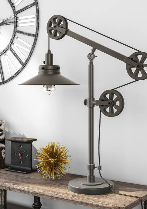 Hinkley & Carter Descartes Table Lamp With Pulley