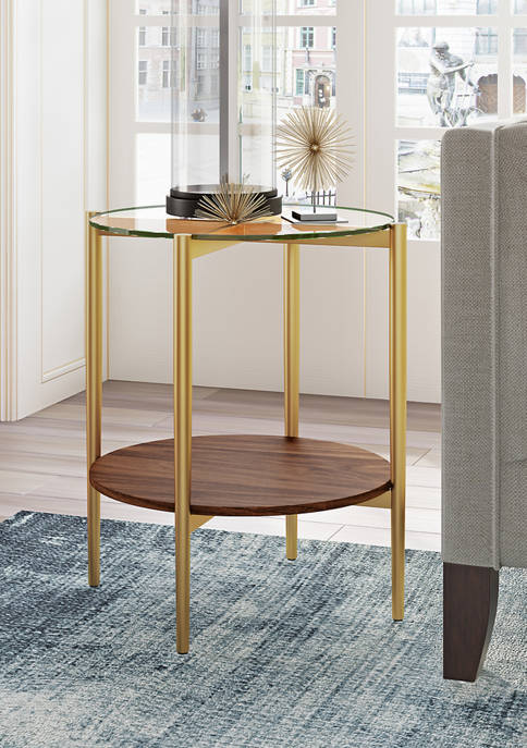 Hinkley & Carter Otto Side Table In Brass