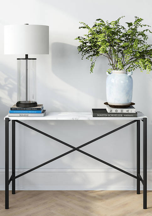 Hinkley & Carter Braxton Black And Marble Console
