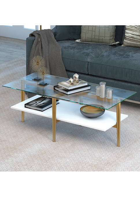Hinkley & Carter Otto Coffee Table In Brass