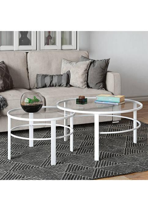 Hinkley & Carter Gaia Nesting Table In White