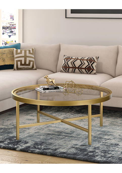Xivil Coffee Table In Gold Finish