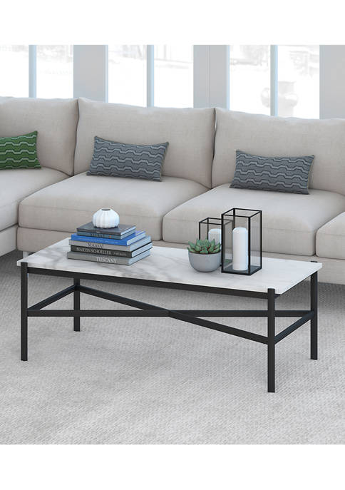 Hinkley & Carter Braxton Marble Coffee Table In
