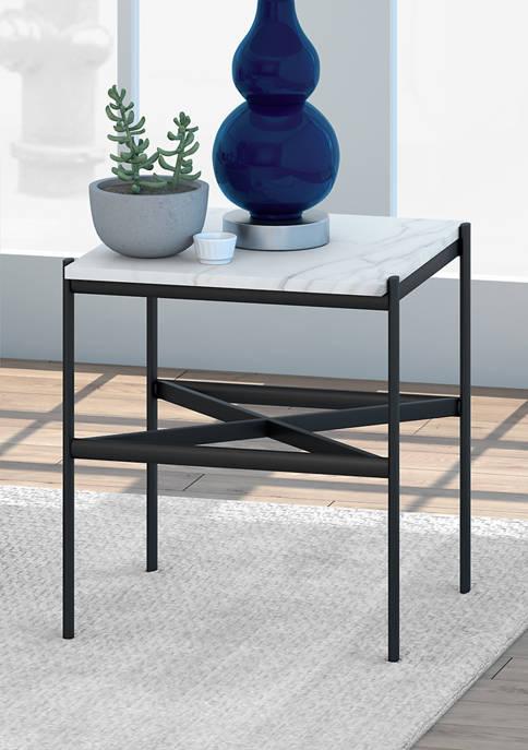 Hinkley & Carter Braxton Geometric Side Table In