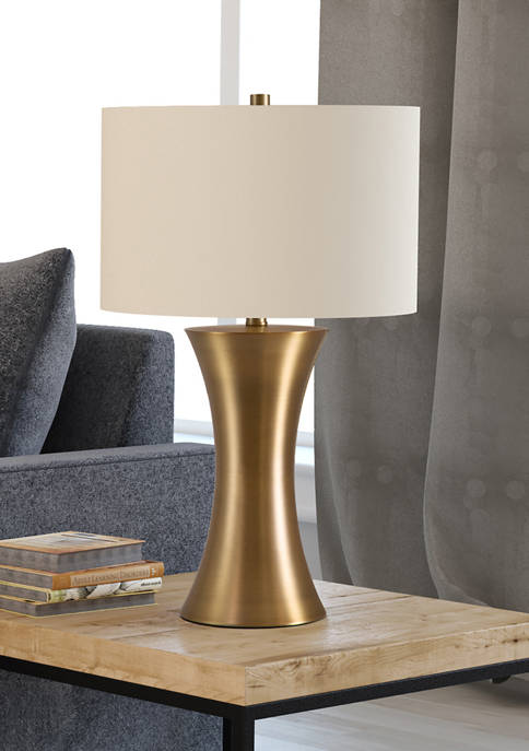 Quince Table Lamp In Antique Brass
