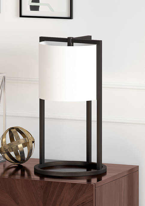 Peyton Asymmetric Blackened Bronze Table Lamp