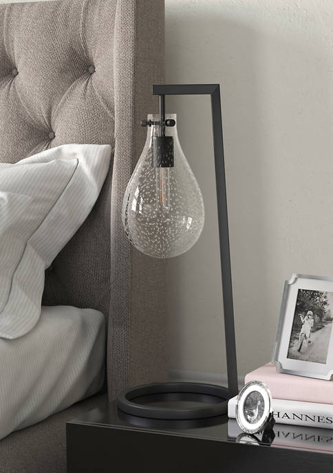 Weston Seeded Glass Table Lamp In Brass