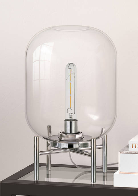 Hinkley & Carter Edison Glass Shade Polished Nickel