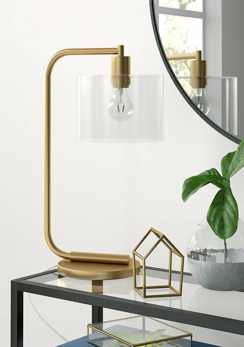 Cadmus Brass Table Lamp- Clear Glass