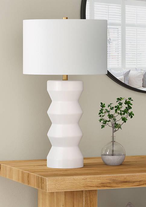 Hinkley & Carter Carlin Ribbed Ceramic Table Lamp