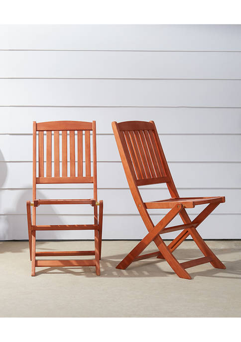VIFAH Malibu Outdoor Folding Bistro Chair (Set of