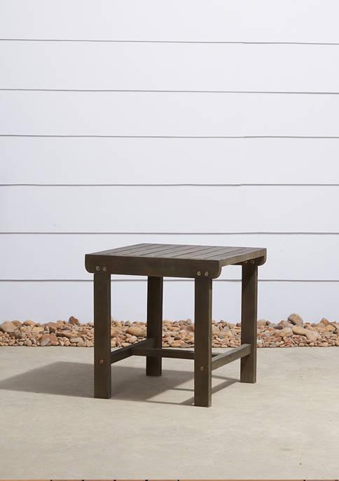VIFAH Renaissance Outdoor Patio Wood Side Table