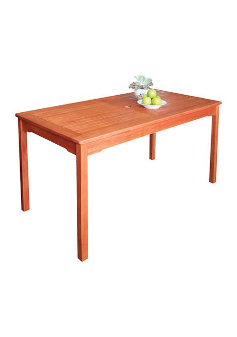 Malibu Outdoor Rectangular Patio Dining Table