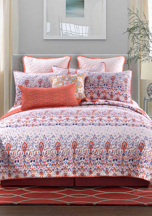 Barefoot Bungalow Amber Quilt and Pillow Sham Set