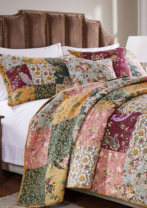 Greenland Home Fashions Antique Chic Quilt and Pillow