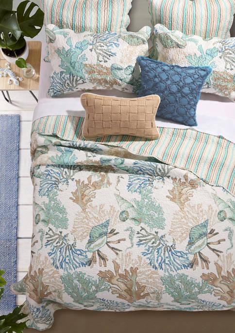 Barefoot Bungalow Atlantis Quilt and Pillow Sham Set