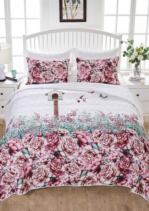 Barefoot Bungalow Baileys Birdhouse Quilt and Pillow Sham