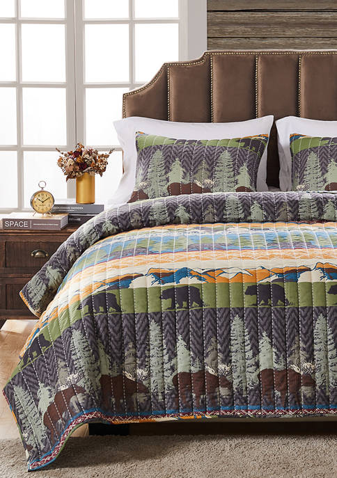 Greenland Home Fashions Black Bear Lodge Quilt and