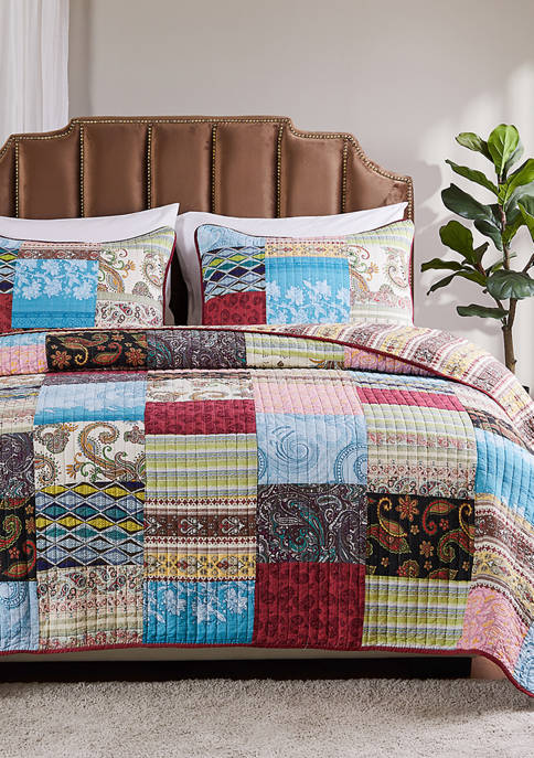 Greenland Home Fashions Bohemian Dream Quilt and Pillow