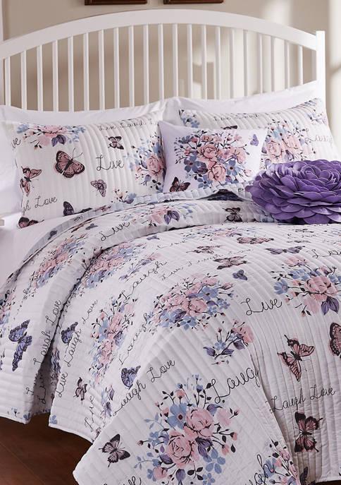 Barefoot Bungalow Garden Joy Quilt and Pillow Sham