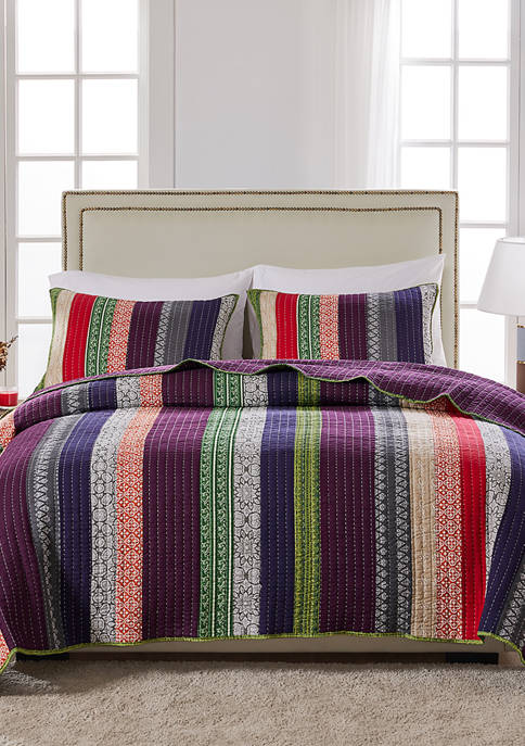 Greenland Home Fashions Marley Quilt and Pillow Sham