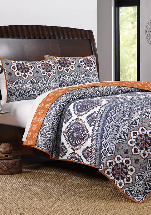 Greenland Home Fashions Medina Quilt and Pillow Sham