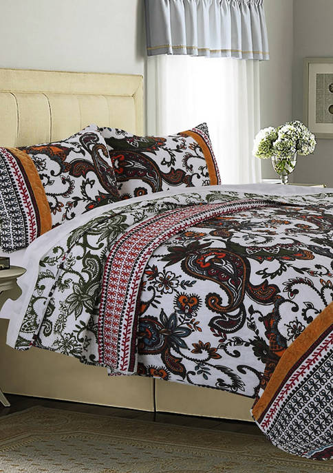 Greenland Home Fashions Orleans Quilt and Pillow Sham