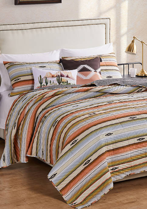 Barefoot Bungalow Painted Desert Quilt and Pillow Sham