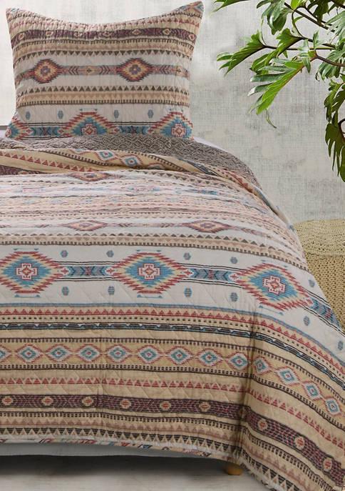 Barefoot Bungalow Phoenix Quilt and Pillow Sham Set