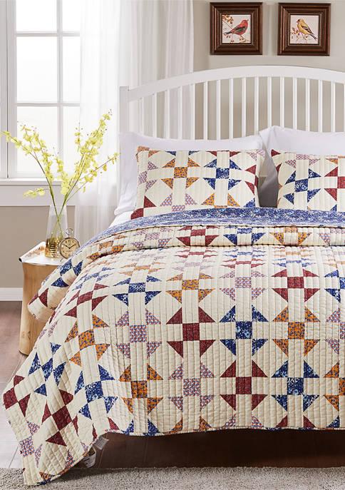 Barefoot Bungalow Savannah Quilt and Pillow Sham Set