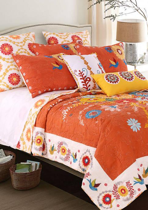 Barefoot Bungalow Topanga Quilt and Pillow Sham Set