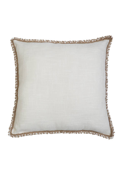 Clarke Solid Pillow with Jute Trim