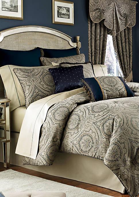 Hannah Slate Blue Full Comforter Set 80-in. x 90-in.