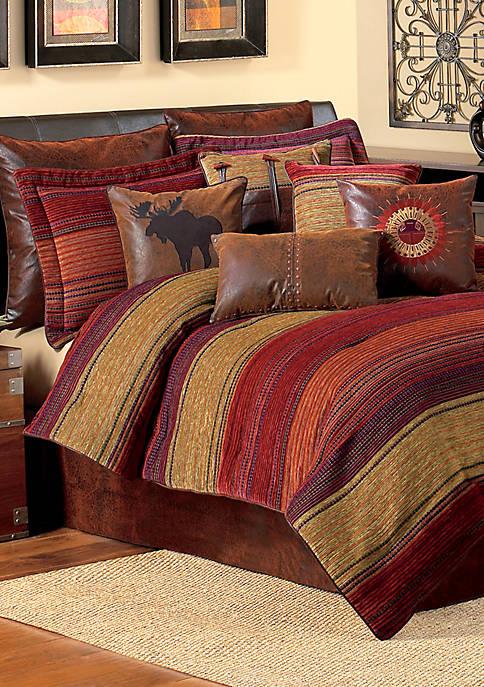 Plateau Multicolored Queen Comforter Set 92-in. x 96-in.