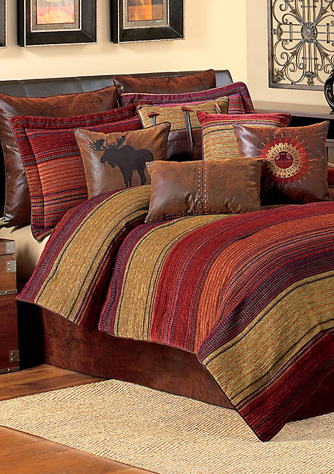 Croscill Plateau Multicolored King Comforter Set 110-in. x