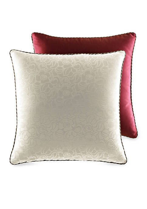 Romance Champagne/Burgundy Reversible Euro Sham 26-in. x 26-in.